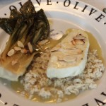 Steamed Halibut in Coconut and Green Curry Sauce